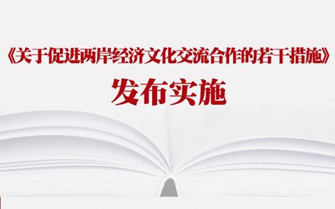 【图解新闻】《关于促进两岸经济文化交流合作的若干措施》发布实施
