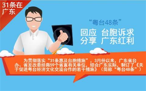 """图解:广东省发布""""粤台48条""""回应台胞诉求分享广东红利"""