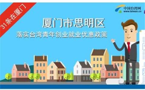 图解:厦门市思明区落实台湾青年创业就业优惠政策