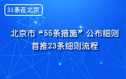"""【31条在北京】北京市""""55条措施""""公布细则 首推23条细则流程"""