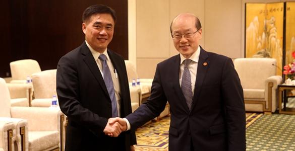 刘结一会见中国国民党副主席郝龙斌