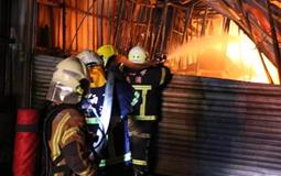 台南蔬菜厂22日半夜起火 工厂及仓库付之一炬.jpg