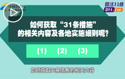 关于促进两岸经济文化交流合作的若干措施(31条)