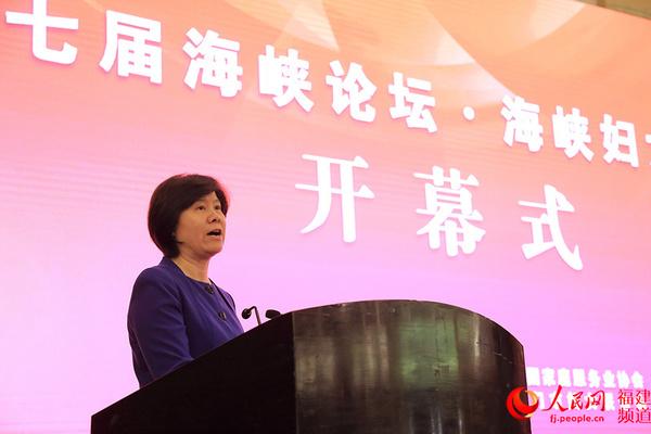 全国人大常委会副委员长、全国妇联主席沈跃跃在开幕式上发言 邹家骅摄