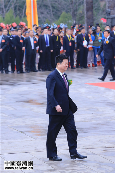 中央台辦、國台辦副主任龍明彪出席公祭黃帝典禮 中國臺灣網 劉瑩攝。