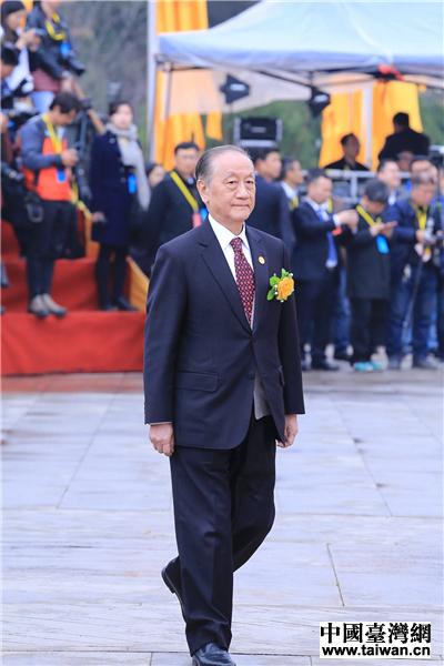臺灣新黨主席鬱慕明參加公祭黃帝典禮 中國臺灣網 劉瑩 攝。