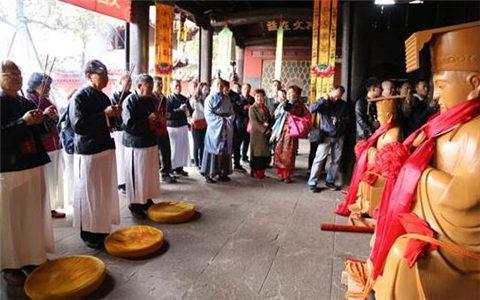 台湾宫庙到文昌祖庭恭请神像赴台