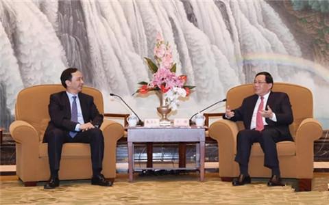 李强会见新北市长朱立伦:欢迎支持更多台湾青年在沪创业发展