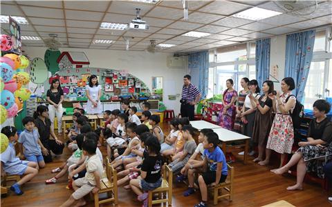 广西南宁教育团走进台湾校园体验教育文化