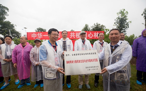 """""""中华一家亲·共植同心林""""义务植树活动在云南石林台创园举行"""