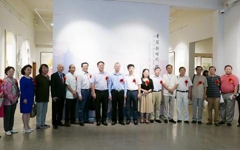 """""""纪念改革开放四十周年两岸满族同胞书画展""""在津举办"""
