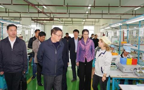 贵州省台办周素平主任一行赴黔东南、安顺调研台资企业
