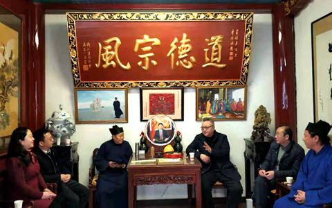武汉市委台办调研长春观 探索搭建汉台宗教文化交流新平台
