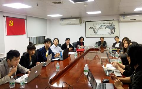 广东省委台办副主任黄兆芬会见来粤采风的台湾新媒体团