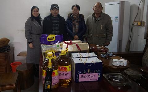 广西柳州市台办新春走访慰问台商台胞台属