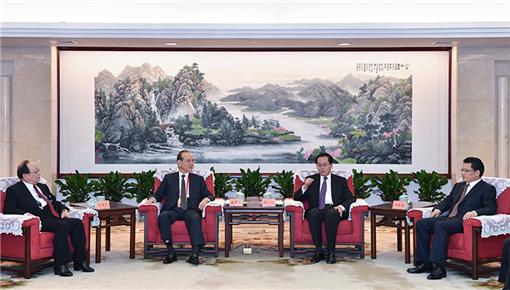 车俊会见中国国民党荣誉副主席林丰正蒋孝严