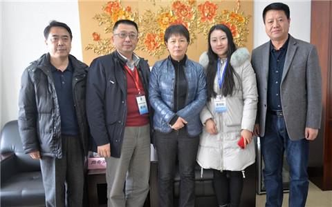 台湾中华两岸教育文化交流学会秘书长周希炯来鞍山参访