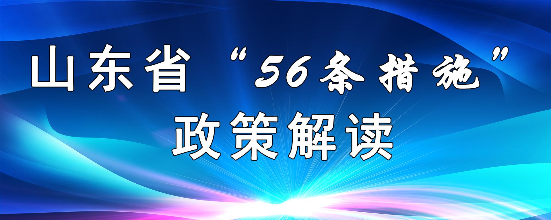 """山东省""""56条""""政策解读"""