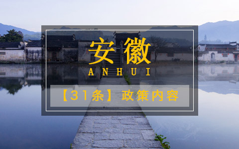 安徽31条政策内容