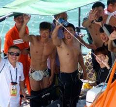 两岸健儿横渡台海5天4夜完成壮举 成体育合作典范