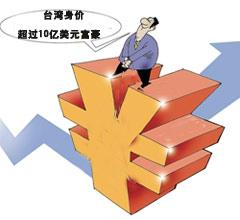 胡润富豪榜:台湾拥有48名身价超过10亿美元富豪