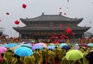 两千余名台湾信众参加山西高平神农炎帝民间拜祖典礼