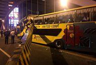 台湾游览车又传意外!撞断陆桥限高横梁 多名学生受伤