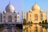 泰姬陵因污染竟由白变土黄 印度法院急向当局喊话