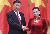 习近平会见越南国会主席阮氏金银