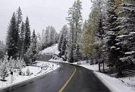 新疆喀纳斯景区突降大雪