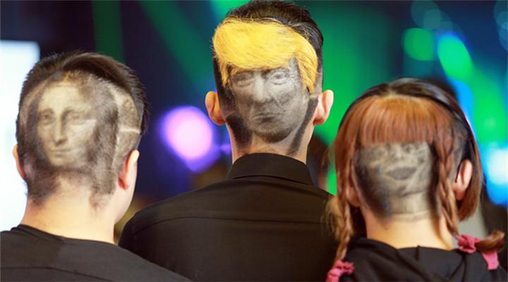 """""""特朗普""""上头?台湾理发师发雕手艺惊人"""