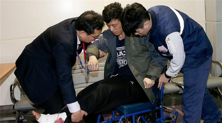 花莲地震救援 北京宋姓夫妇轻伤出院返京