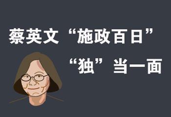 """蔡英文""""施政百日"""" """"独""""当一面"""