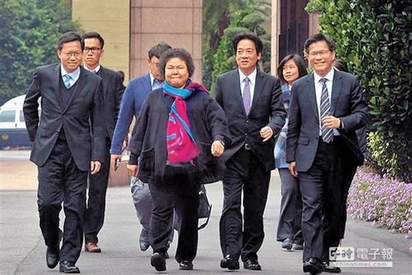 """陈菊(中)。(图片来源:台湾""""中时电子报"""").jpg"""