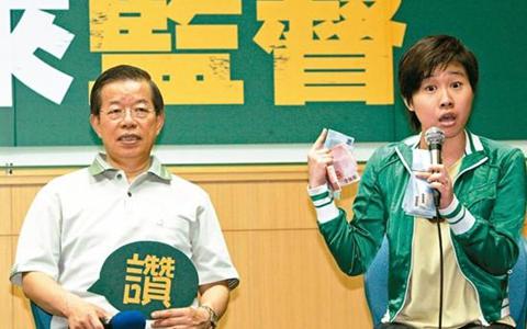 """圖為臺""""駐日代表""""謝長廷(左)和""""卡神""""楊蕙如.jpg"""