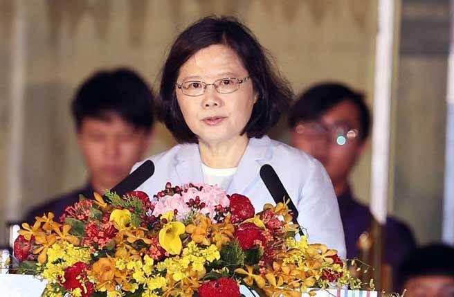 蔡英文。(图片来源:台湾《中时电子报》).jpg