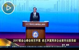 2017紫金山峰会南京开幕 俞正声冀两岸企业家作出新贡献