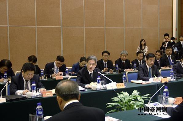 台湾县市长参访团访问大陆,受到中共中央台办、国务院台办主任张志军会见
