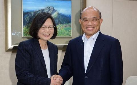 蔡英文出面劝进选新北市长 苏贞昌:愿承担重任