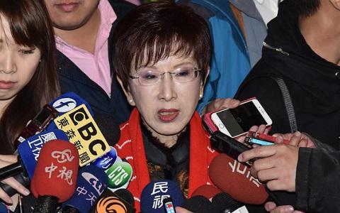 前国民党主席洪秀柱批蔡英文:没点亮台湾却点燃斗争之火