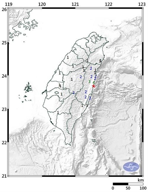 台湾花莲清晨发生4.8级地震 24小时内已连4震