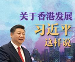 【图解新闻】关于香港发展 习近平这样说