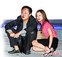 刘曾易/刘曾易(左)酒驾将陈铭杰撞成植物人,案发后与同车的女性友人...