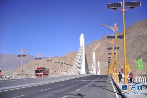 西藏第一座矮塔斜拉桥梁正式通车
