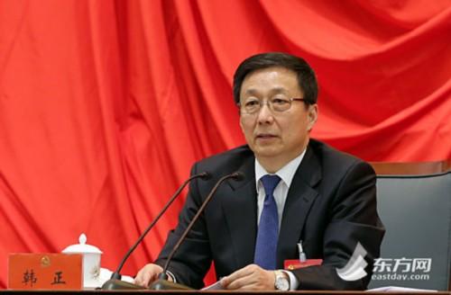 韩正在中共上海市第十届委员会第五次全体会议上讲话
