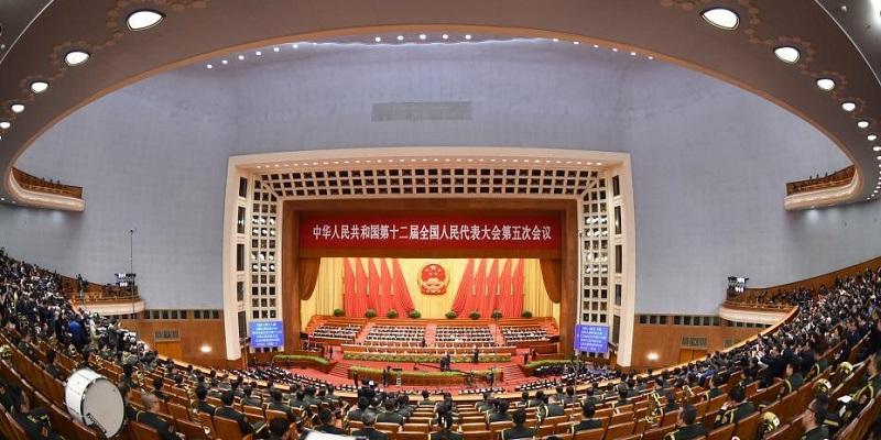 组图:十二届全国人大五次会议在北京闭幕