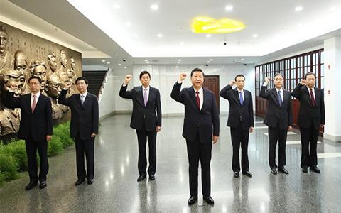 习近平总书记带领中共中央政治局常委瞻仰中共一大会址引起热烈反响