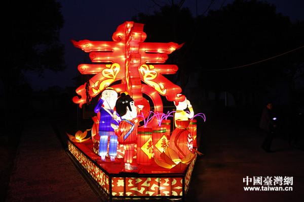 官巷村通过花灯喜迎新春