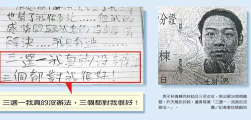 三个女友难抉择 台北一男子自杀求解脱(图)