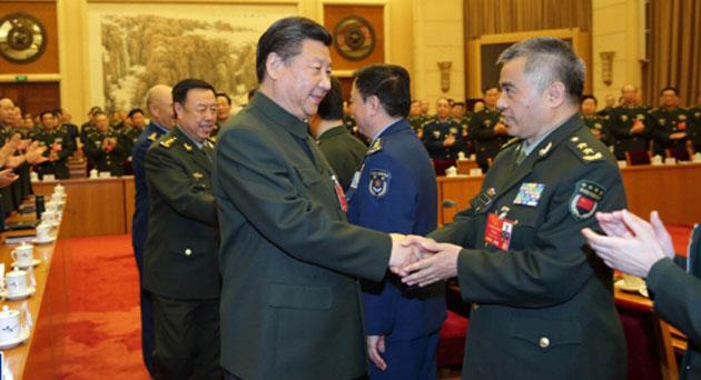 习近平主席在解放军代表团的重要讲话